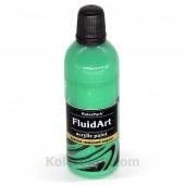 Краска для Fluid Art зелёная
