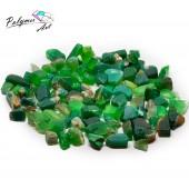 Агат зеленый фракция 5-20 мм, 100 гр