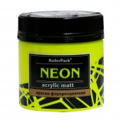 Краска акриловая флуоресцентная NEON 150 мл, Жёлтая