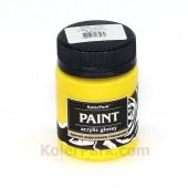 Краска акриловая глянцевая, 50 мл, Жёлтая