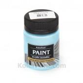 Краска акриловая металлик, 50 мл, Голубой жемчуг