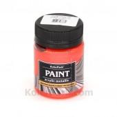 Краска акриловая металлик, 50 мл, Красный коралл