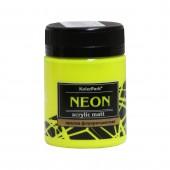 Краска акриловая флуоресцентная NEON 50 мл, Жёлтая