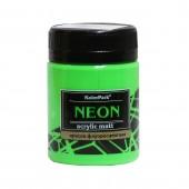 Краска акриловая флуоресцентная NEON 50 мл, Зелёная