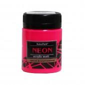 Краска акриловая флуоресцентная NEON 50 мл, Розовая