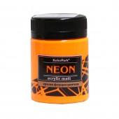 Краска акриловая флуоресцентная NEON 50 мл, Оранжевая
