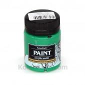 Краска акриловая полуматовая 50 мл, Зелёная